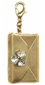 John Wind Gold Envelope Locket Sparkle Charm Enhancer