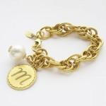 John WInd Sorority Gal Cotton Pearl Initial Bracelet